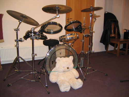 The soft toy is there to improve sound